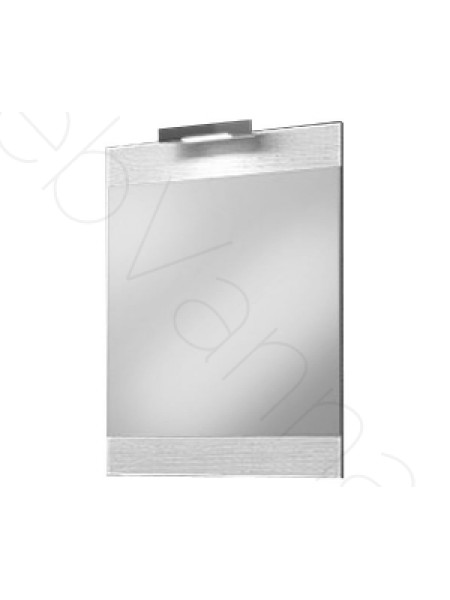 Зеркало Aqwella Бриг 60 см, с подсветкой, дуб седой