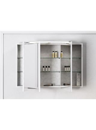 Зеркальный шкаф Aqwella Бродвей 110 см, белый, с подсветкой