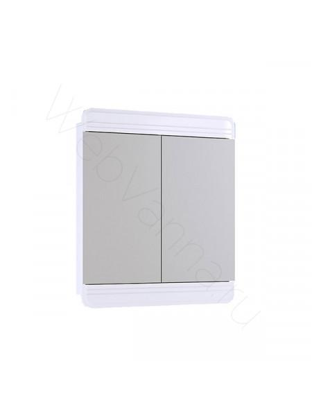 Зеркальный шкаф Aqwella Корсика 65 см, белый