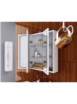 Зеркальный шкаф Aqwella Милан 100 см, белый, с подсветкой