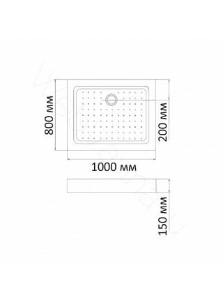 Душевой поддон Bandhours Rectangular 810-Tray 100х80 см