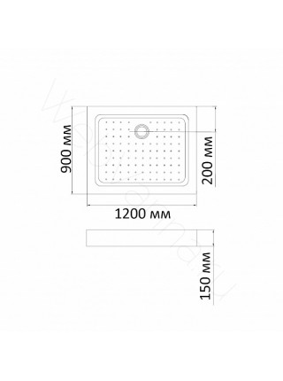 Душевой поддон Bandhours Rectangular 912-Tray 120х90 см