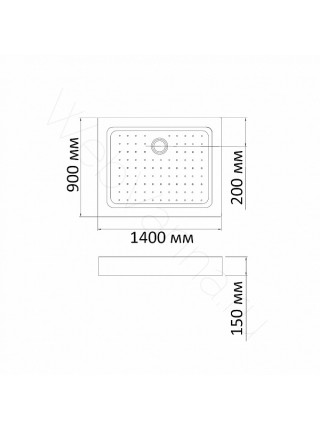 Душевой поддон Bandhours Rectangular 914-Tray 140х90 см