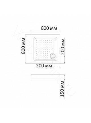 Душевой поддон Bandhours Square 88-Tray 80х80 см