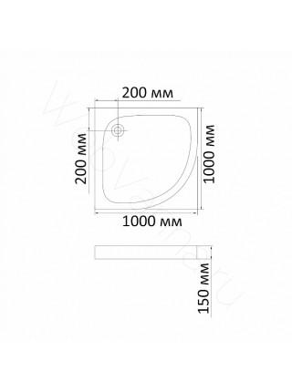 Душевой поддон Bandhours Odissey-Tray 100x100 см