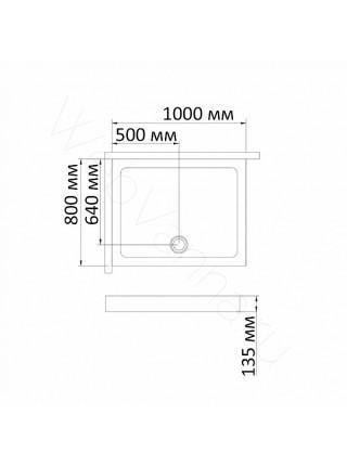 Душевой поддон Bandhours Rimini -Tray 100х80 см