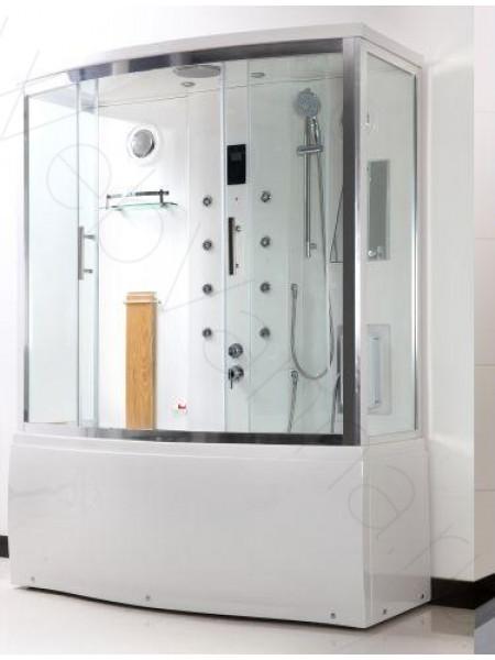 Комбинированный бокс Bandhours Gamma 170х80, прозрачное стекло