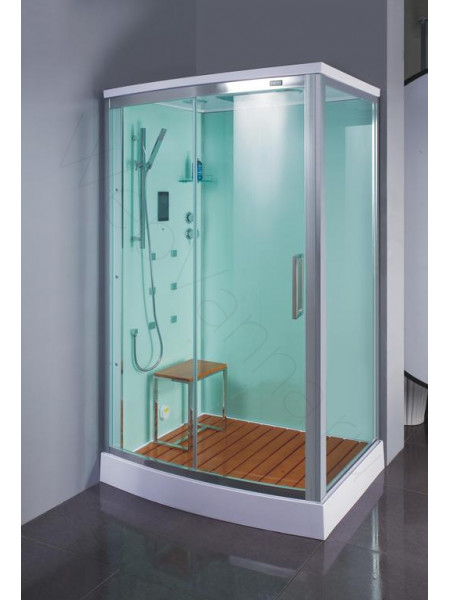 Душевая кабина Bandhours Omega 120х90 левая, прозрачное стекло