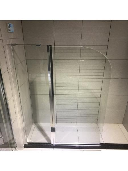 Шторка на ванну Bandhours Eko 120, стекло прозрачное