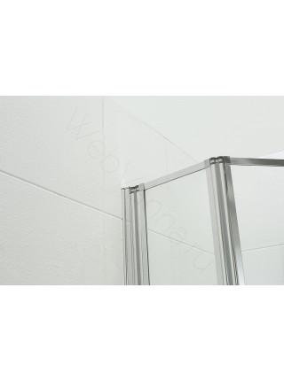 Шторка на ванну Bandhours Inox 130, стекло прозрачное