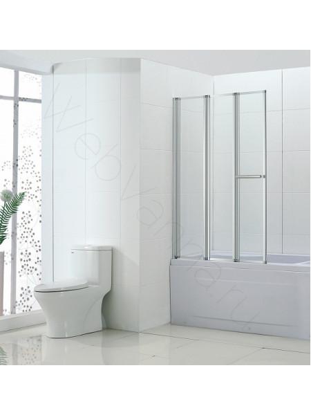 Шторка на ванну Bandhours Inox 100, стекло прозрачное