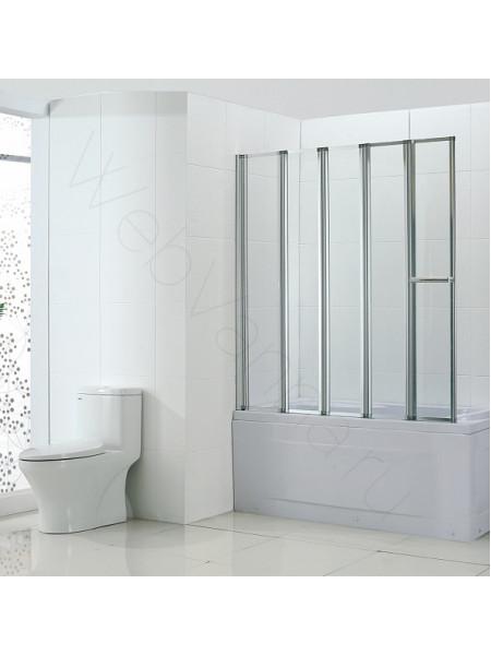 Шторка на ванну Bandhours Inox 120, стекло прозрачное