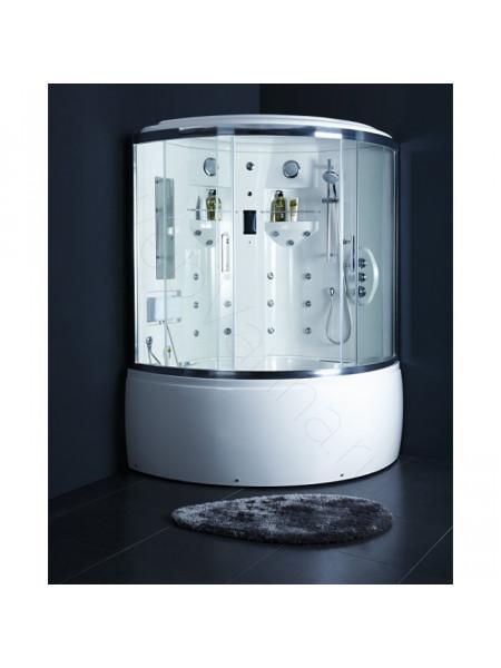 Комбинированный бокс Bandhours Tondo 140х140, прозрачное стекло