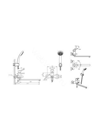 Набор смесителей Bravat Drop 2 в 1 F00409C
