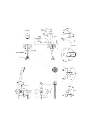 Набор смесителей Bravat Drop-D 3 в 1 F00312C