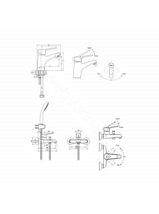 Набор смесителей Bravat Eco 3 в 1 F00313C