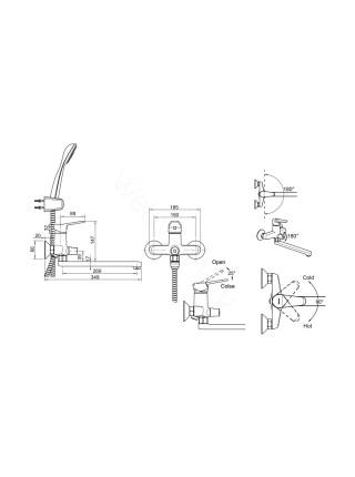 Набор смесителей Bravat Eco 2 в 1 F00414C