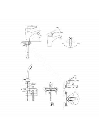 Набор смесителей Bravat Eco-D 3 в 1 F00314C