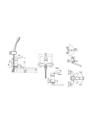 Набор смесителей Bravat Eco-D 2 в 1 F00415C