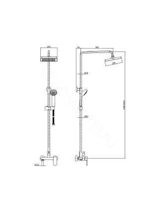 Душевая стойка Bravat Opal F9125183CP-A-RUS, хром