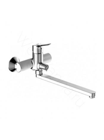 Смеситель для ванны Bravat Drop F64898C-LB, поворотный излив