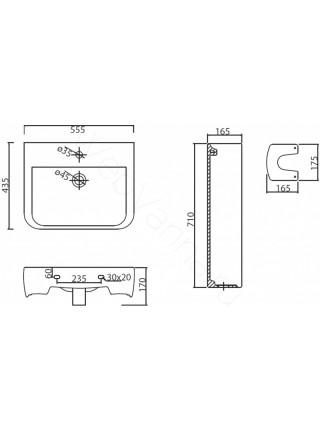 Раковина подвесная BelBagno ARDENTE BB0123L