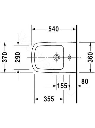 Биде подвесное Duravit Durastyle 228215