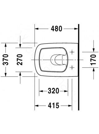 Унитаз подвесной Duravit DuraStyle 253909 укороченный
