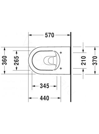 Унитаз подвесной Duravit ME by Starck 252809