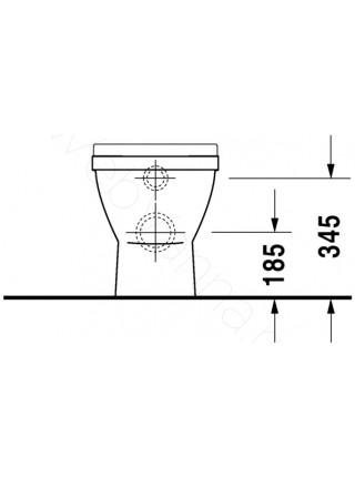 Унитаз приставной Duravit Starck3 012409