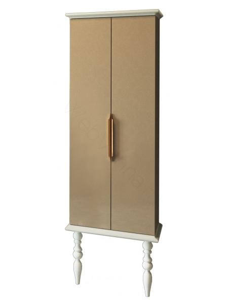 Пенал Edelform Декора 59 см, б/ящ, двойной, жемчужно-бежевый