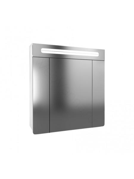 Зеркальный шкаф Edelform Гласс 80 см, белый, с подсветкой