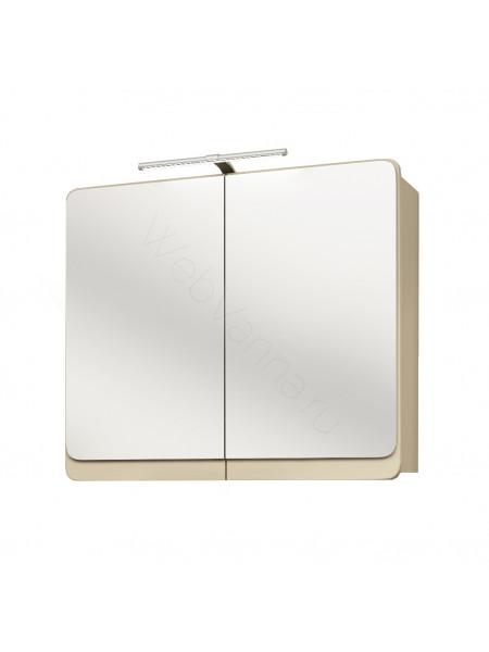 Зеркальный шкаф Edelform Кальма 90 см, олива матовая/глянец