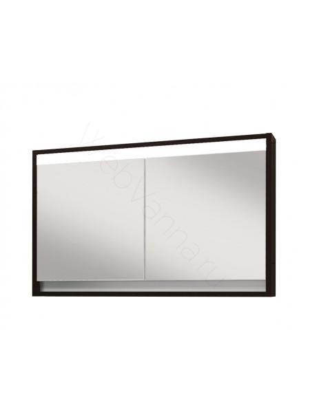 Зеркальный шкаф Edelform Константе 100 см, венге, с подсветкой