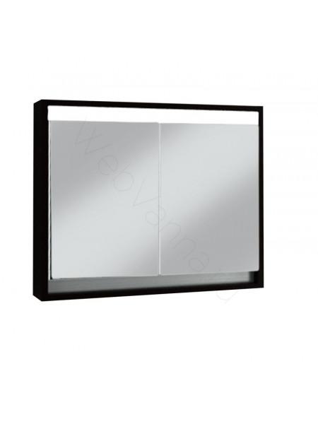 Зеркальный шкаф Edelform Константе 80 см, венге, с подсветкой