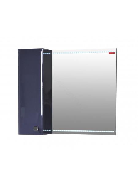 Зеркальный шкаф Edelform Нота 75 см, серый, с подсветкой