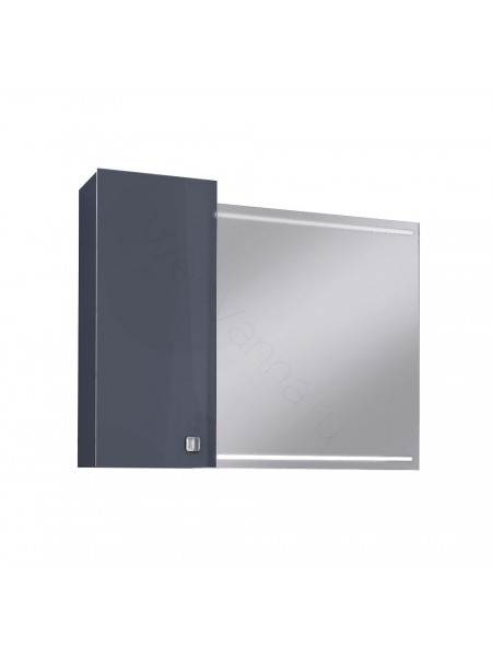Зеркальный шкаф Edelform Нота 85 см, серый, с подсветкой