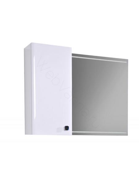 Зеркальный шкаф Edelform Нота 75 см, белый, с подсветкой