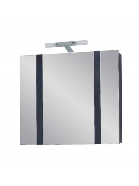 Зеркальный шкаф Edelform Фреш 80 см, антрацит, с подсветкой
