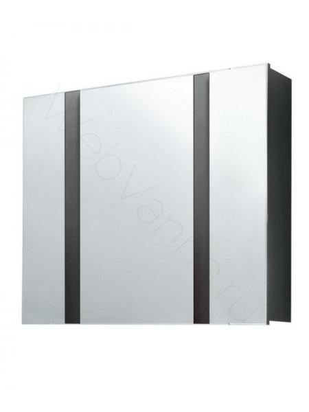 Зеркальный шкаф Edelform Фреш 80 см, антрацит со светильником