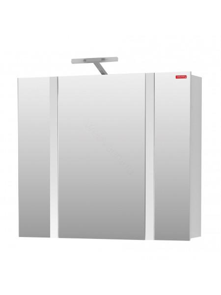 Зеркальный шкаф Edelform Фреш 80 см, белый, с подсветкой