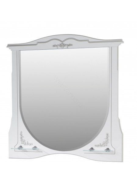 Зеркало Edelform Луиза 100 см, белое матовое, с подсветкой