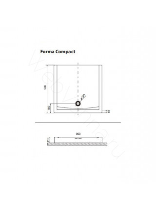 Душевой поддон Excellent Forma Compact 90х90