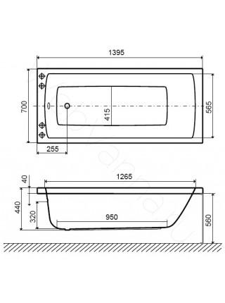 Акриловая ванна Excellent Aquaria 140х70