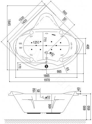 Акриловая ванна Excellent Konsul 150х150