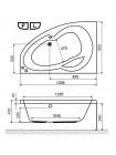 Акриловая ванна Excellent Newa 140х95 R