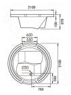 Акриловая ванна Gemy G9060 K 210х210