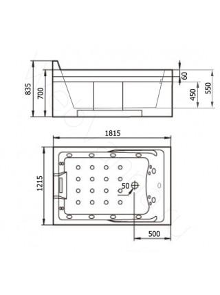 Акриловая ванна Gemy G9061 K L 181х121