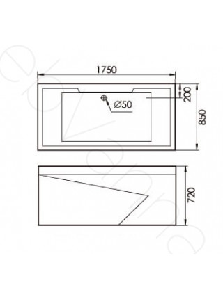 Акриловая ванна Gemy G9065 B L 175х85