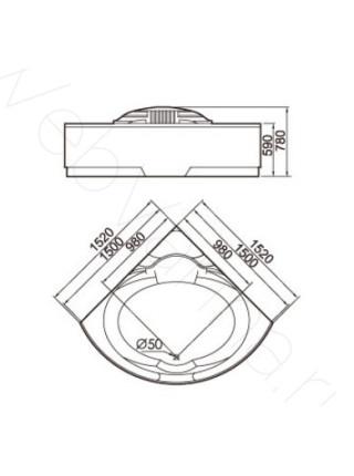 Акриловая ванна Gemy G9082 K 152х152